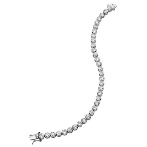 Silver and CZ Tennis Bracelet